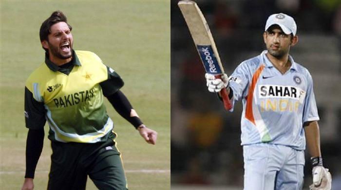 'Calm down!': Waqar Younis tells cricketers Afridi, Gambhir to end social media spat