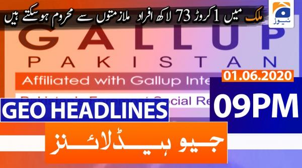 Geo Headlines 09 PM | 1st June 2020