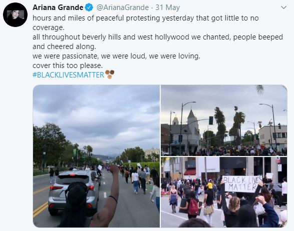 Ariana Grande, Miguel & More Protest Against George Floyd's Death