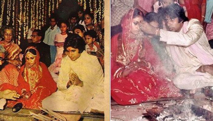 Big B shares the post on his wedding day