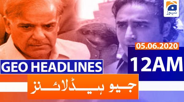 Geo Headlines 12 AM | 5th June 2020
