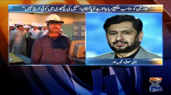 There is no problem in privatisation of steel mills if proper package is given: Saleem Safi