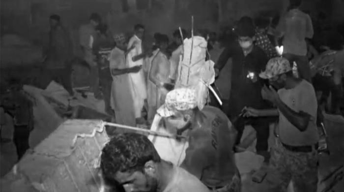 Karachi building declared 'dangerous' collapses, killing at least one