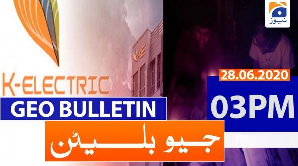 Geo Bulletin 03 PM | 28th June 2020