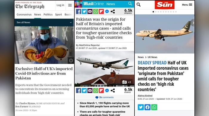 British-Pakistanis fearful after section of British media links them to imported coronavirus cases