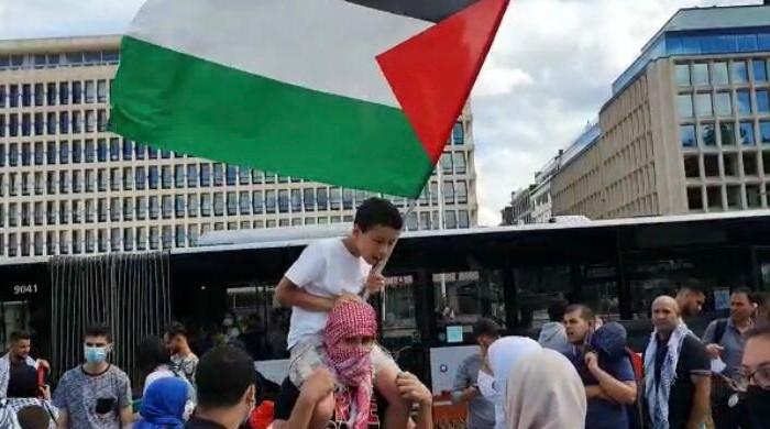 Hundreds gather in Brussels to protest Israel's proposed annexation of Palestinian territories