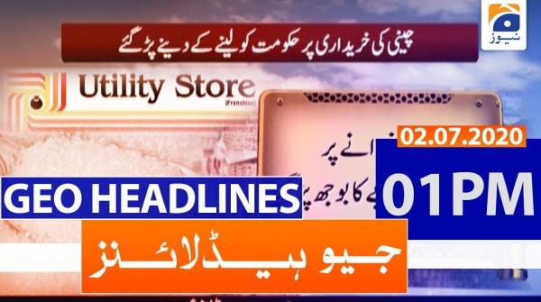 Geo Headlines 01 PM | 2nd july 2020