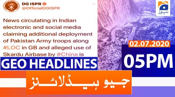 Geo Headlines 05 PM | 2nd july 2020