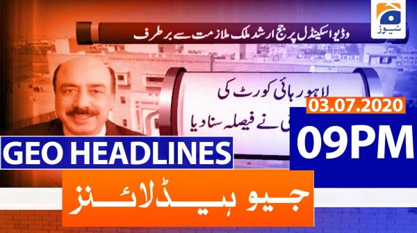 Geo Headlines 09 PM | 3rd July 2020