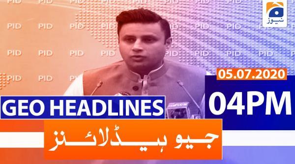 Geo Headlines 04 PM | 5th July 2020