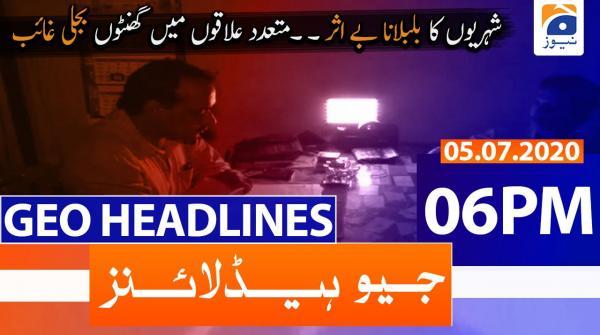 Geo Headlines 06 PM | 5th July 2020