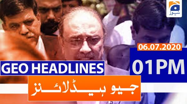 Geo Headlines 01 PM | 6th july 2020