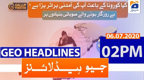 Geo Headlines 02 PM | 6th july 2020