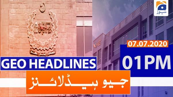 Geo Headlines 01 PM | 7th july 2020