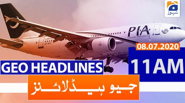 Geo Headlines 11 AM | 08th July 2020
