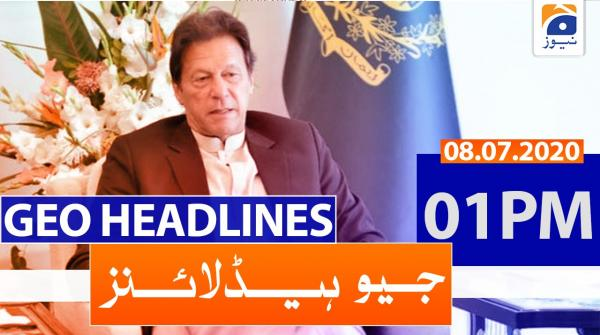 Geo Headlines 01 PM | 08th July 2020
