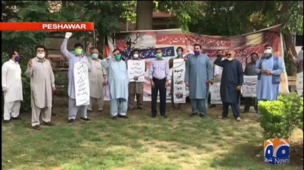 Journalists protest against Mir Shakil-ur-Rahman's arrest