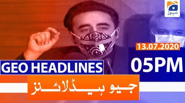 Geo Headlines 05 PM   13th July 2020