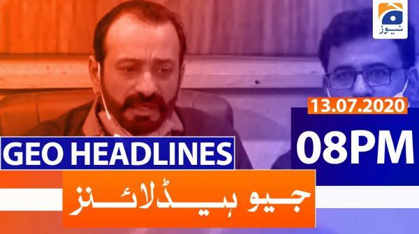 Geo Headlines 08 PM | 13th July 2020