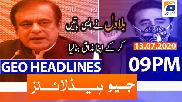 Geo Headlines 09 PM | 13th July 2020