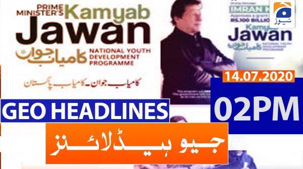Geo Headlines 02 PM | 14th July 2020