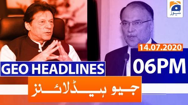 Geo Headlines 06 PM | 14th July 2020