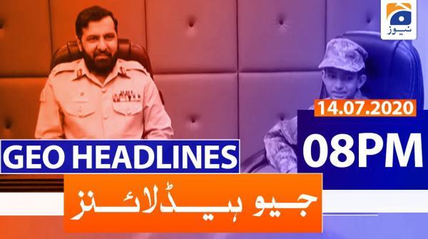 Geo Headlines 08 PM | 14th July 2020