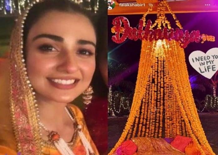 Sarah Khan, Falak Shabir kick off wedding festivities with ...