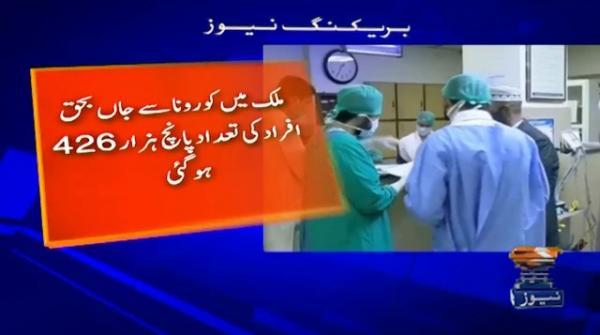 پاکستان: کورونا کیسز 257914، اموات 5426