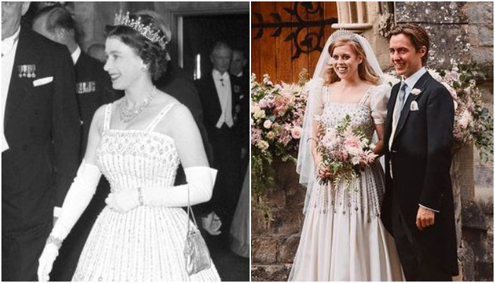 Princess Beatrice S Wedding Was All About Hand Me Downs From The Queen