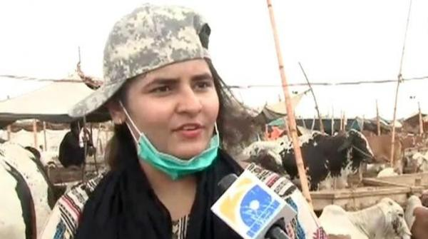 Meet Ayesha Ghani, who sells cattle in Karachi's animal market