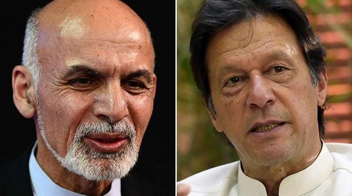 Imran Khan and Ashraf Ghani discuss progress in Afghan peace process
