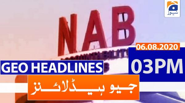 Geo Headlines 03 PM | 6th August 2020