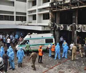 At least seven dead in fire at coronavirus facility in India