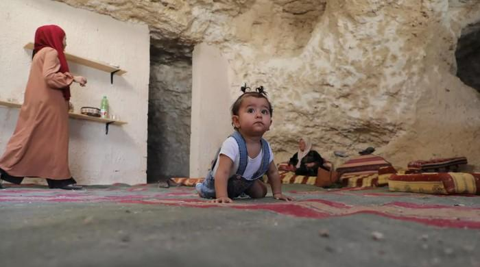 Palestinian family living in cave home receives demolition notice from Israel