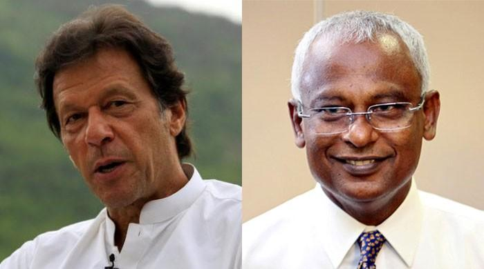 PM Imran shares Pakistan's success against COVID-19 with Maldivian president