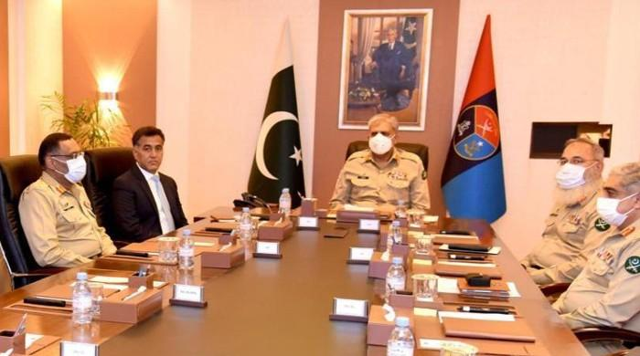 Gen Bajwa gets security briefing at ISI headquarters