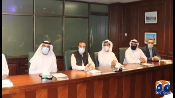 وفاقی وزیر سمندری امور، سید علی حیدر زیدی کی متحدہ عرب امارات کے وفد سے ملاقات