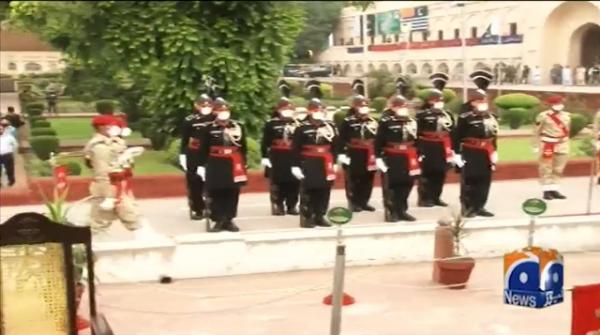 Change of guard ceremony held at Mazar-e-Quaid
