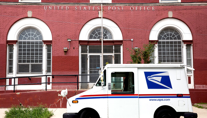 Protesters Stage Demonstration Outside Postmaster General Home Amid USPS Controversy