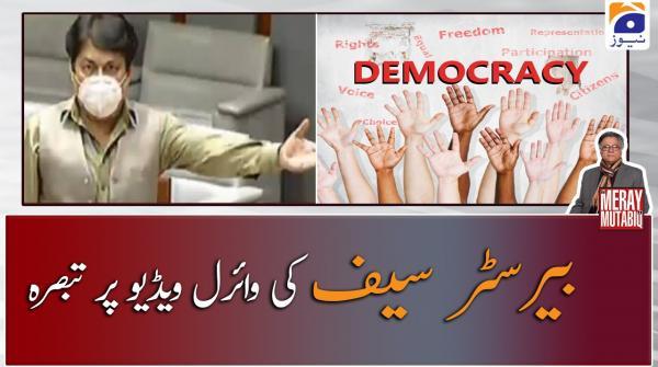 Barrister Saif ki Viral Video par Hassan Nisar ka Tabsara