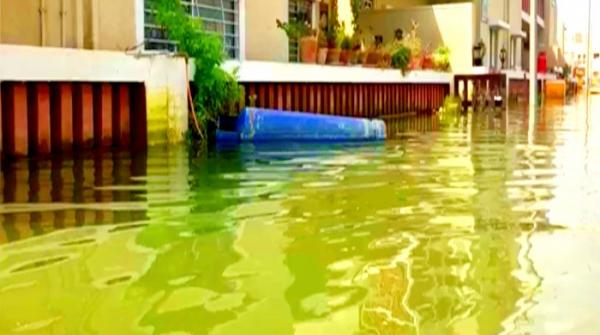 Seven days after torrential rains Karachi's Naya Nazimabad still looks like a lake