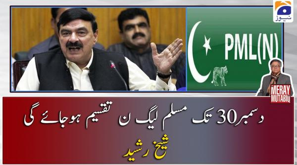 30 December tak PML-N taqseem ho jaey gi, Sheikh Rasheed