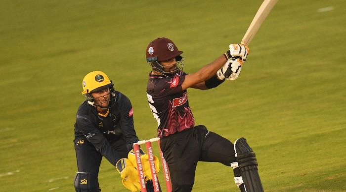 Pakistan's Babar Azam hits 'magnificent' 114 in Somerset T20 Blast