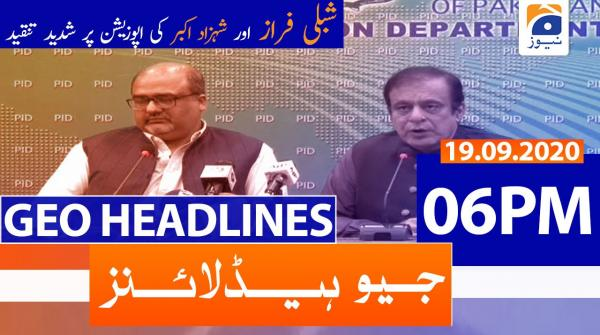 Geo Headlines 06 PM | 19th September 2020