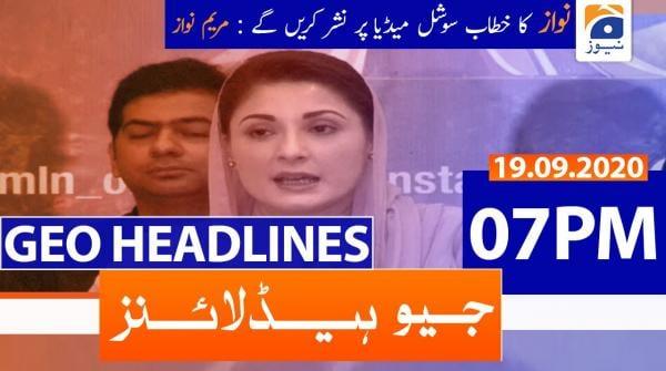 Geo Headlines 07 PM | 19th September 2020