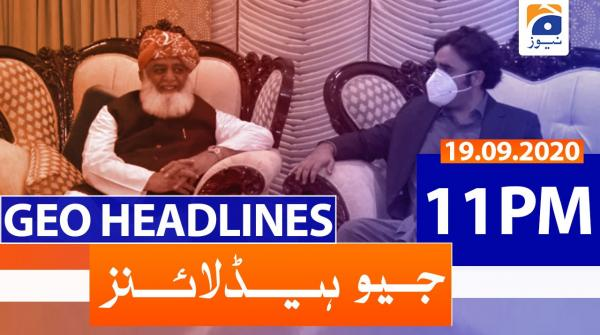 Geo Headlines 11 PM | 19th September 2020