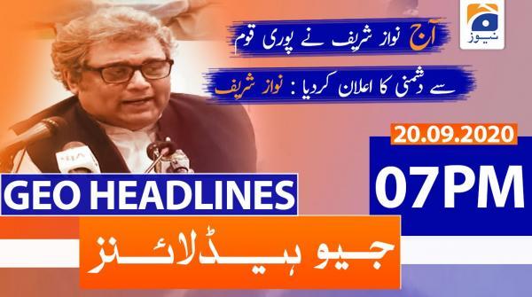 Geo Headlines 07 PM | 20th September 2020