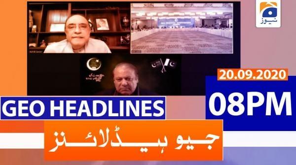Geo Headlines 08 PM | 20th September 2020
