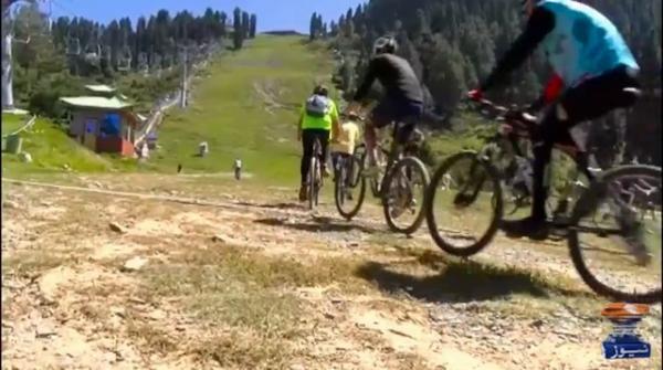 Mountain cycling rally held at Malam Jabba